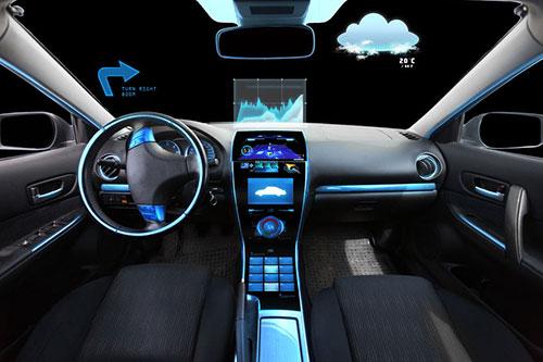high-tech car dashboard
